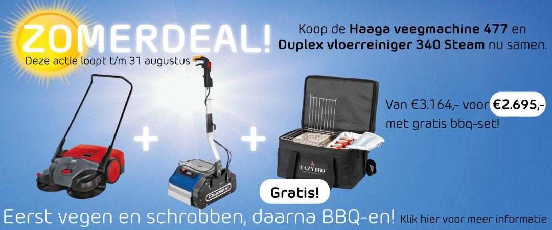 Zomerdeal Haaga 477, Duplex 340 steam en gratis bbq-set